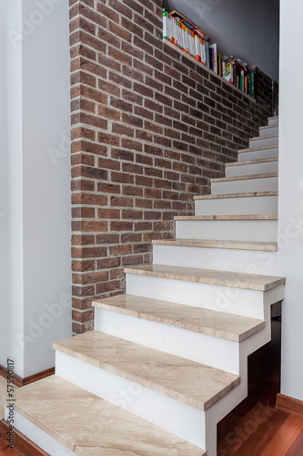Country home - white staircase