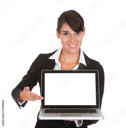 Young Businesswoman With Laptop