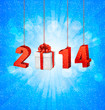 Happy new year 2014! New year design template. Vector illustrati