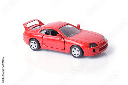 Model car in red.