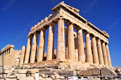 Tuinposter Athene The ancient Parthenon, the Acropolis, Athens, Greece