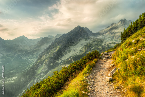 path in mountains - 57594445