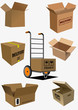 Carton boxes collection. Vector illustration