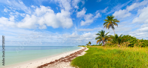 Summer at a tropical beach paradise in Florida Keys, USA
