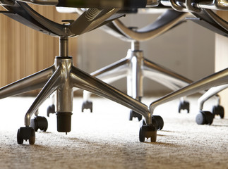 Close-Up of Office Chairs