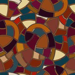 Seamless texture with elements of stained glass