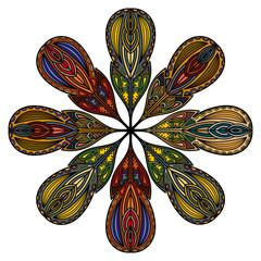 Mandala of the fantastic feathers