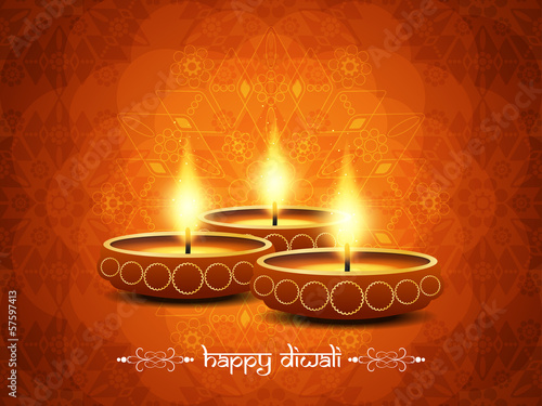 artistic background design for diwali festival