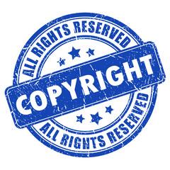 Vector copyright stamp