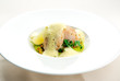 Sea bass fillet infused with sauce foam