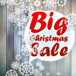 Christmas snowflakes with big sale.