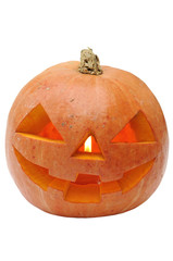 Smiling pumpkin isolated