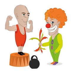 цирк клоун силач