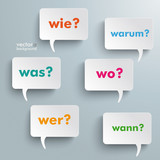 Question Speech Bubbles