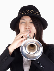 Portrait of a Female Trumpet Player