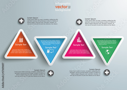 Four Colored Triangles Infographic