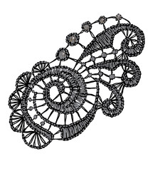 Openwork lace