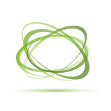 Vector Green Rings Background