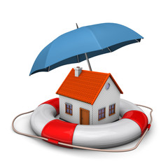 House Umbrella Lifebelt