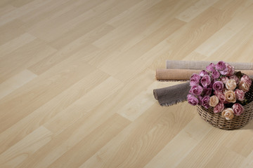 Texture of wooden floor with empty space
