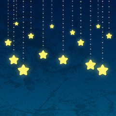 Night background with shiny stars