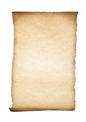 parchment or old paper isolated