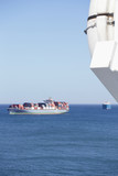 Container ships at sea