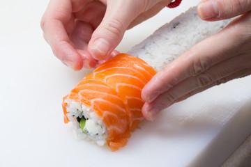 Ingredients for making sushi