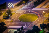 Elevated view of German road junction. Munich, Bavaria, Germany, poster