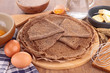 buckwheat crepe with ingredient