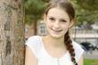 Lächelnder Teenager im Portrait