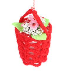 Flower in a basket.