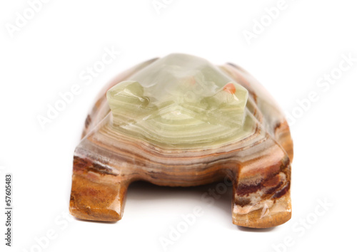 Back view of jade turtle.