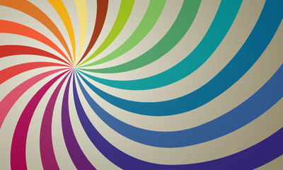 vector retro colorful rainbow sunburst background