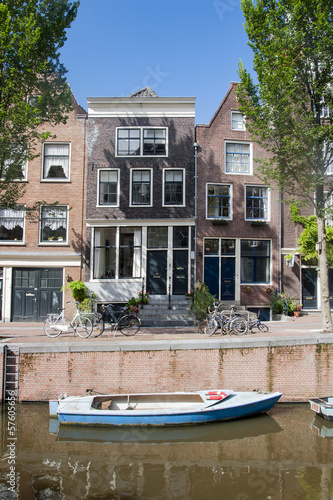 canal side house amsterdam holland