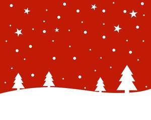 Weihnachtshintergrund - Schneelandschaft rot mit weiß