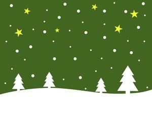Weihnachtshintergrund - Schneelandschaft grün mit weiß