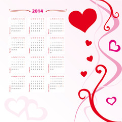 calendario 2014 fantasy love