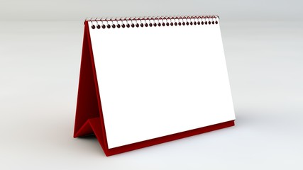 3d masa Takvimi / Beyaz Zemin