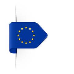 EU Sticker Pfeil mit Schatten - Europäische Flagge