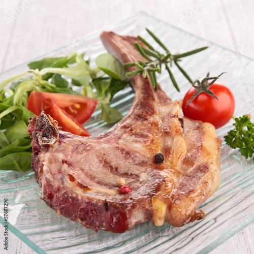 grilled lamb chop