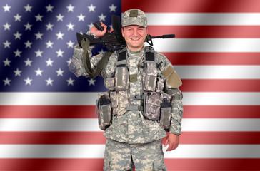 happy us soldier