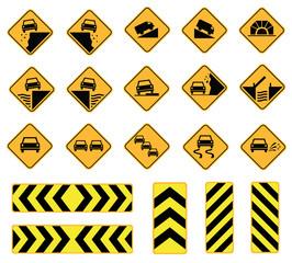 road signs warning