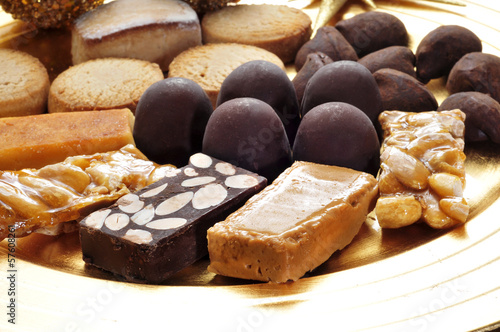 turron, mantecados and polvorones, typical christmas sweets in S