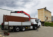 truck with container and gru