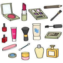 Set of 18 Cartoon Cosmetics