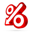 Red/White Percent Sign Arrow 3D Sale