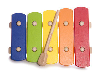 Rainbow Xylophone musical instrument