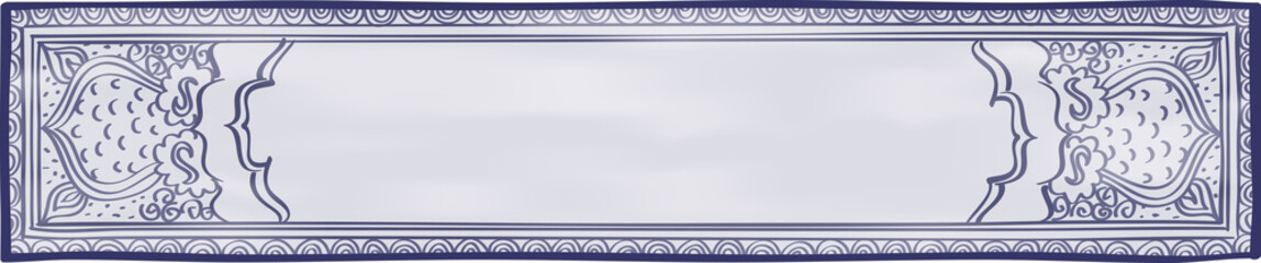 Blue and White Website Header