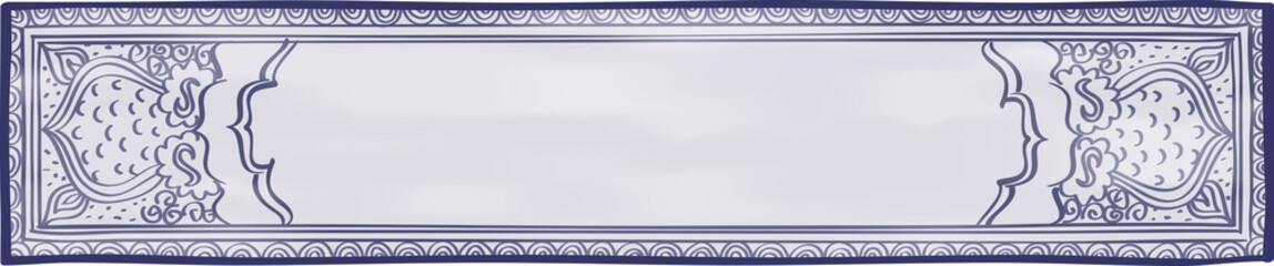 Blue and White Website Header
